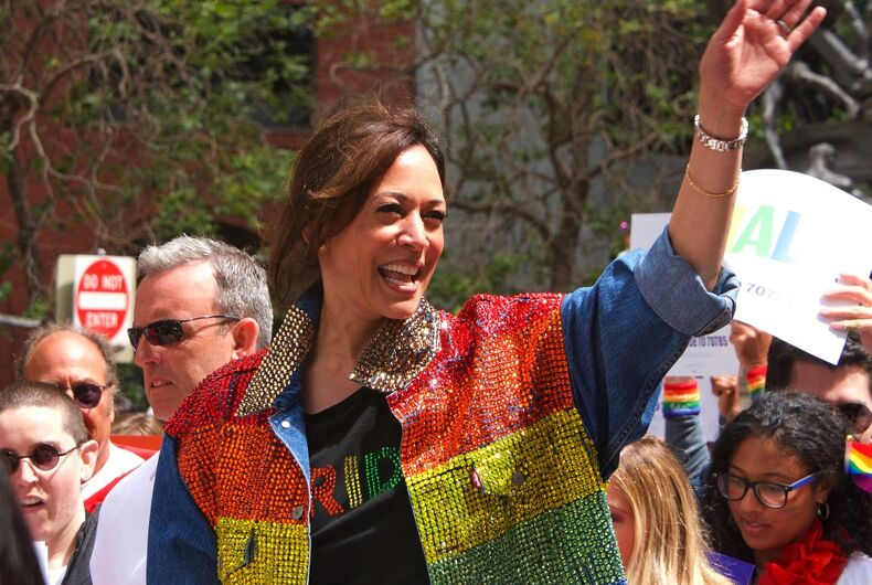 Sen. Kamala Harris attended Pride in San Francisco in 2019 in a stunning rainbow vest.