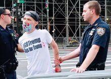 Gay Trump supporter arrested defacing Black Lives Matter mural for second time