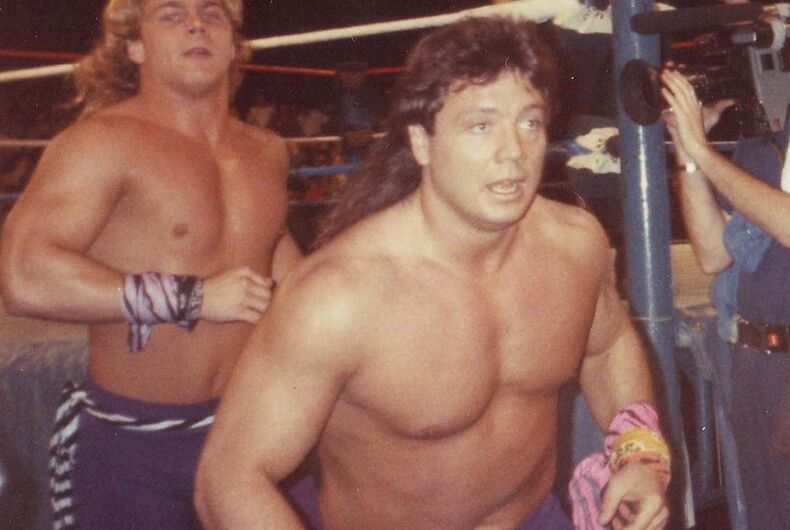 Marty Jannetty in his debut with the Rockers in 1988.
