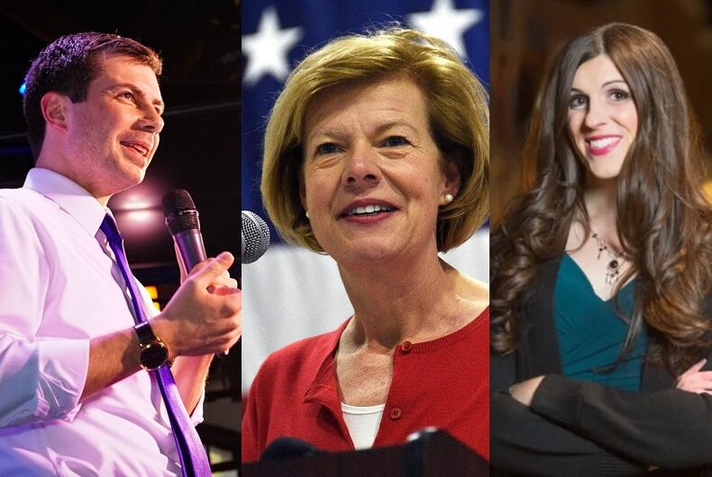Mayor Pete Buttigieg, Sen. Tammy Baldwin, Del. Danica Roem