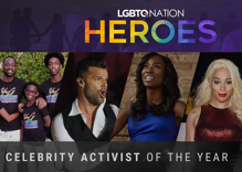 Which celebrity activist did the most to advance LGBTQ equality this year?
