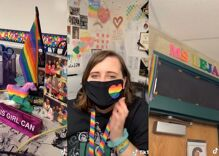 This teacher was told to take down her Pride flag. Her gutsy response has gone viral.