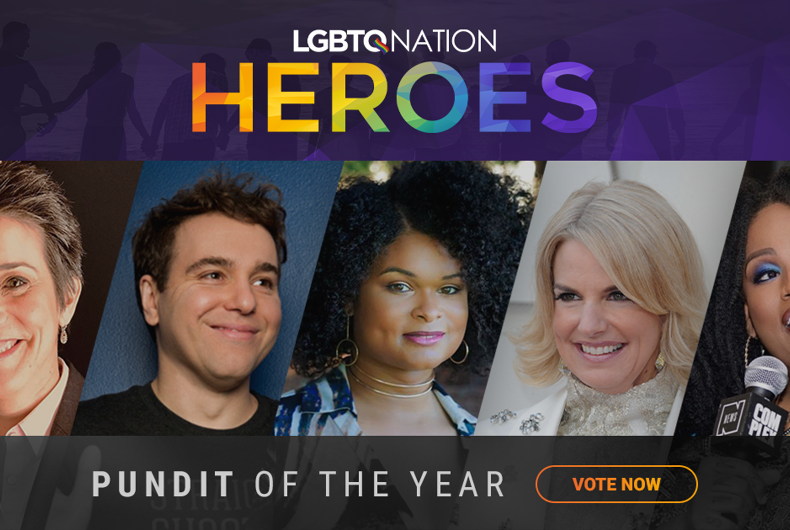 A graphic showing media personality Ashlee Marie Preston, who is nominated for LGBTQ Pundit of the Year.