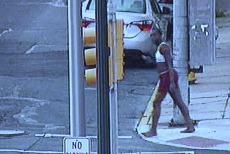 Surveillance footage of Roxanne Moore