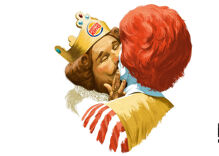 """Burger King & Ronald McDonald kiss in ad celebrating """"everyone's right to be just the way they are"""""""