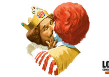 "Burger King & Ronald McDonald kiss in ad celebrating ""everyone's right to be just the way they are"""