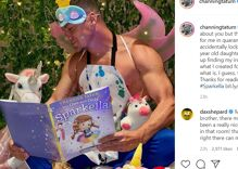"Channing Tatum dons fairy wings & tells dads to ""be as magical as you can"""