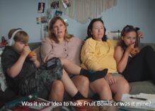 """Conservative Christians are """"highly offended"""" by Dole's new lesbian """"fruit bowl"""" ad"""