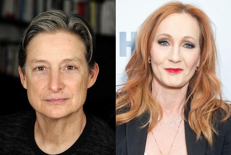 Judith Butler (l) and J.K. Rowling