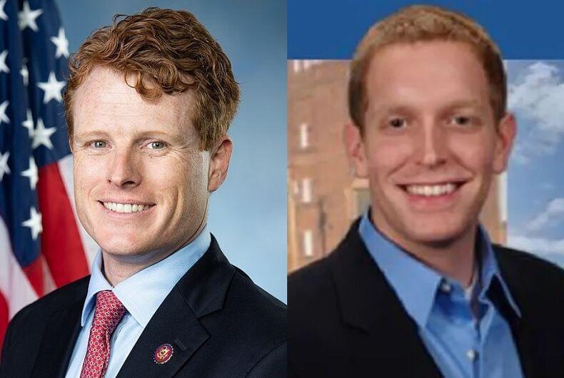 Rep. Joe Kennedy (left) and Mayor Alex Morse