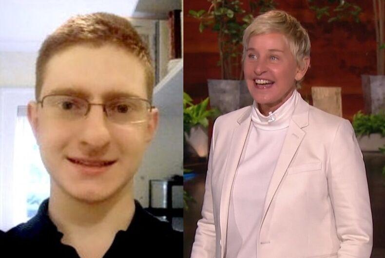 Tyler Clementi and Ellen DeGeneres