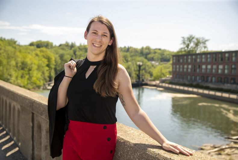 Vermont State House Candidate, Taylor Small in Winooski, VT on May 26, 2020.
