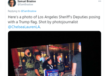 """Sheriff deputies pose with Trump flags at tiny """"Gays for Trump"""" WeHo """"takeover"""""""