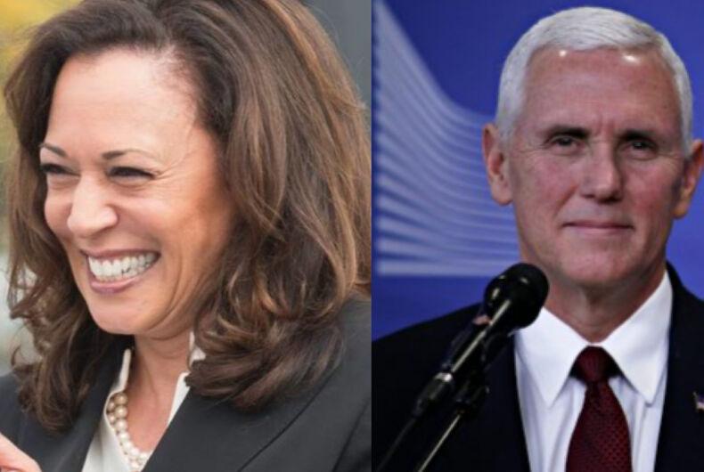 Kamala Harris (left) and Mike Pence (right)