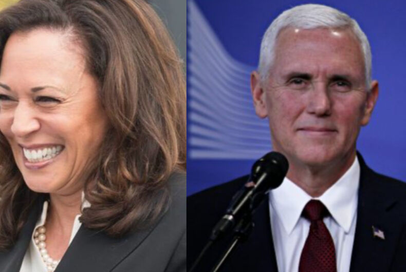 Kamala Harris (left) and Mike Pence (right)