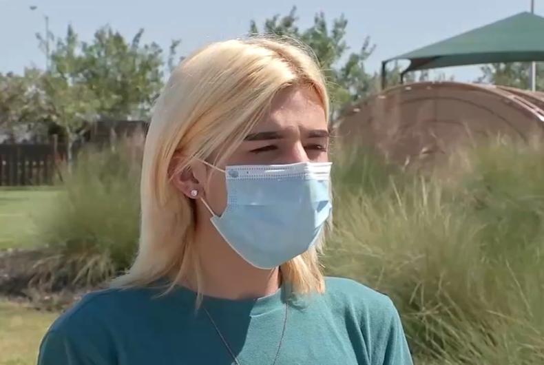 Sanay Martinez, 17 of Louise, Texas