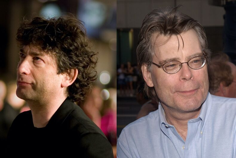 Authors Neil Gaiman and Stephen King