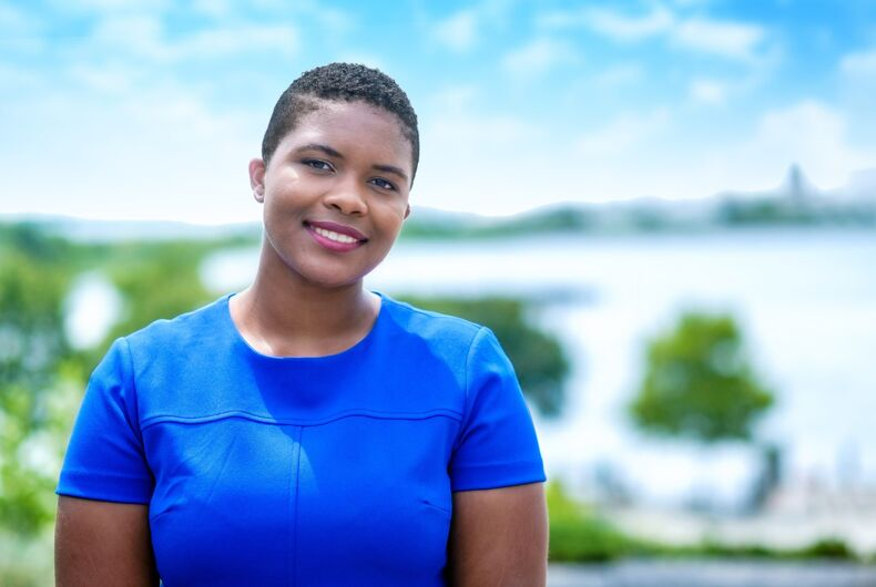 Democratic candidate for Rhode Island Senate District 6, Tiara Mack, is one of many new, out lawmakers in the U.S.