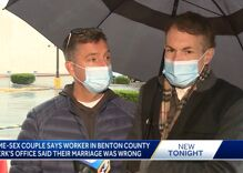 A gay couple went to get a marriage license. What they got were insults.