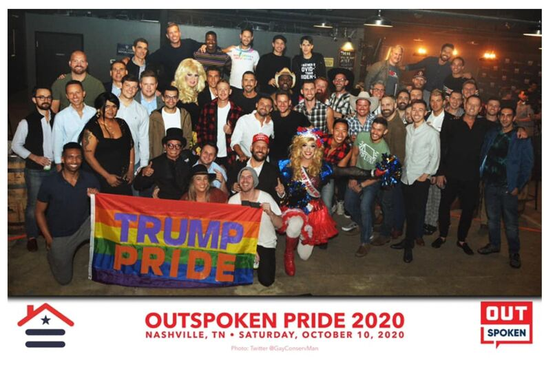 LGBTQ Trump supporters gathered together to flout coronavirus prevention measures in support of the President