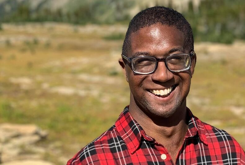 Reggie Greer, the Biden campaign's LGBTQ+ engagement director