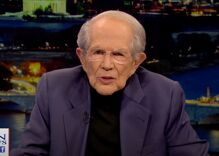 Pat Robertson said gay men have a secret ring that spreads HIV when they shake hands