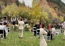His wedding became a giant dance party when Lady Gaga started playing. His groom stole the show.
