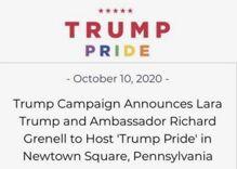 "Trump campaign will hold a ""closeted"" LGBTQ Pride rally in Pennsylvania tomorrow"