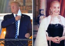 Trump returned to the White House & performed the worst remake of Evita ever
