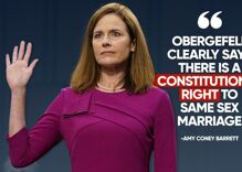 Gay Trump supporters are claiming Amy Coney Barrett supports same-sex marriage. They're lying.