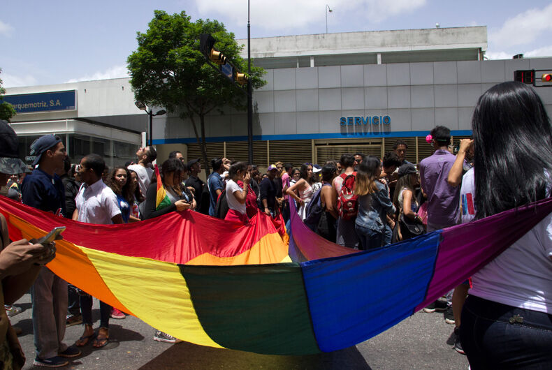 June 23, 2019. Members of the LGBT community walks during the Gay Pride annual march through the streets of Caracas
