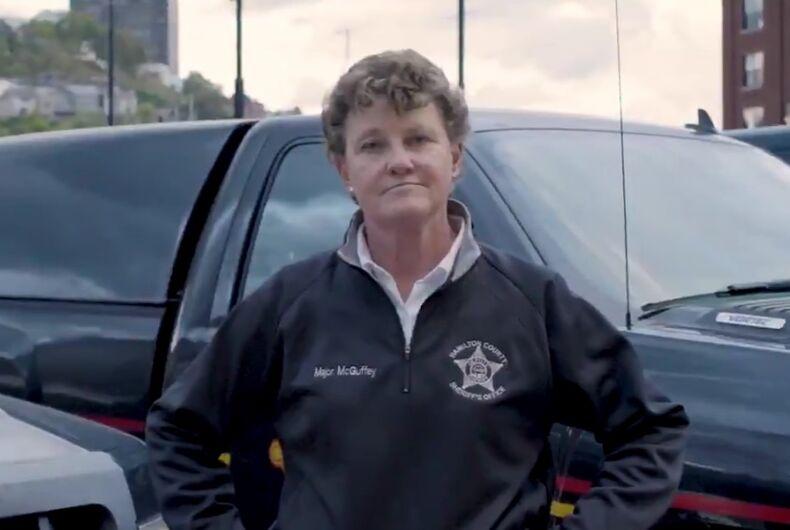 Charmaine McGuffey lesbian Ohio Sherriff campaign ad