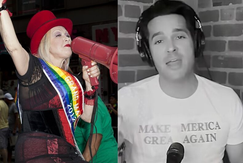 Cyndi Lauper as Grand Marshal of 2012's NYC Pride/Brandon Straka singing