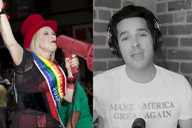 Cyndi Lauper as Grand Marshal of 2012's NYC Pride/Brandon Straka singing