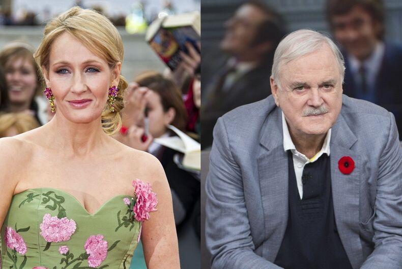 J.K. Rowling and John Cleese