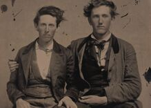Historical photos of men in love: The oldest picture in the collection