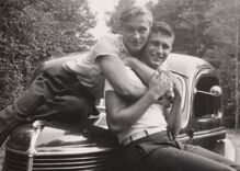 Historical photos of men in love: America's love affair with the automobile