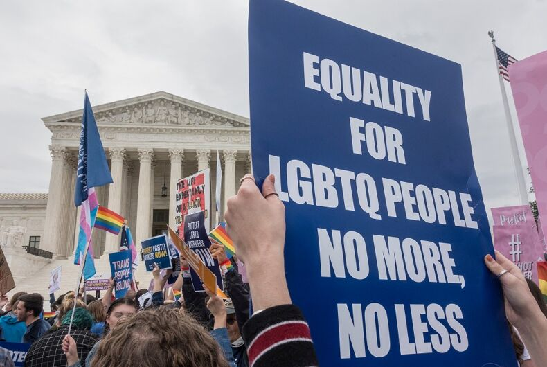 OCT. 8, 2019: Rally for LGBTQ rights outside Supreme Court.