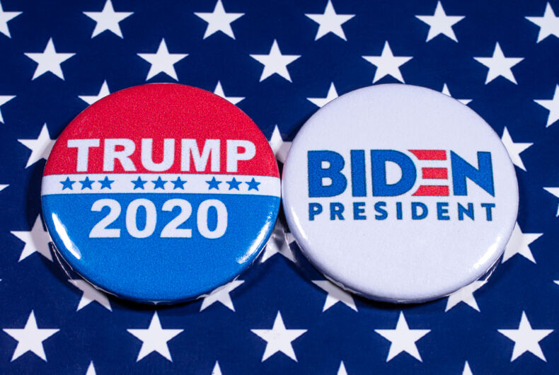 Campaign buttons for the 2020 election