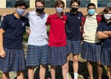 100 teen boys shocked administrators when they all wore skirts to school