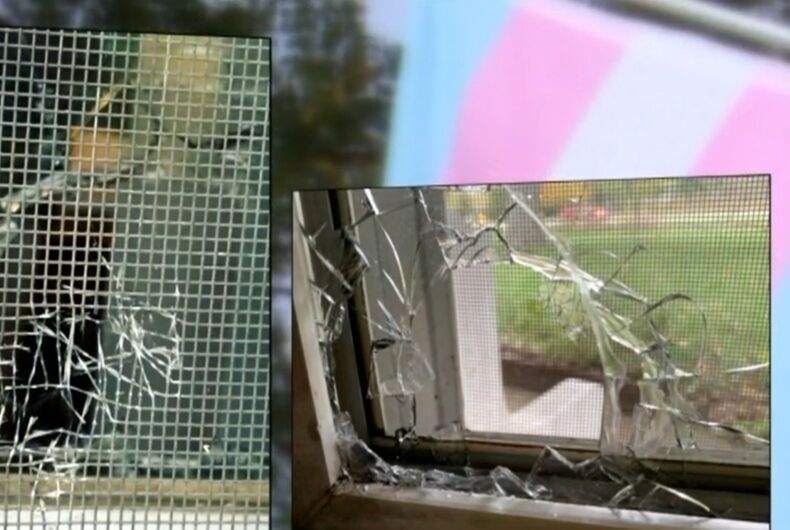 A bullet was fired through the window of an Allendale couple's home