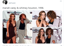 The internet imagines Whitney Houston & Mariah Carey as a couple after photos of them resurface
