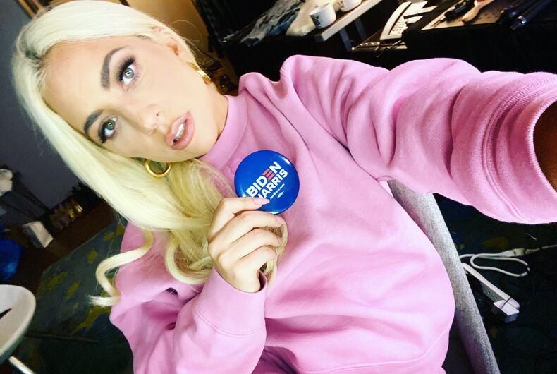 Lady Gaga rallies voter for Joe Biden