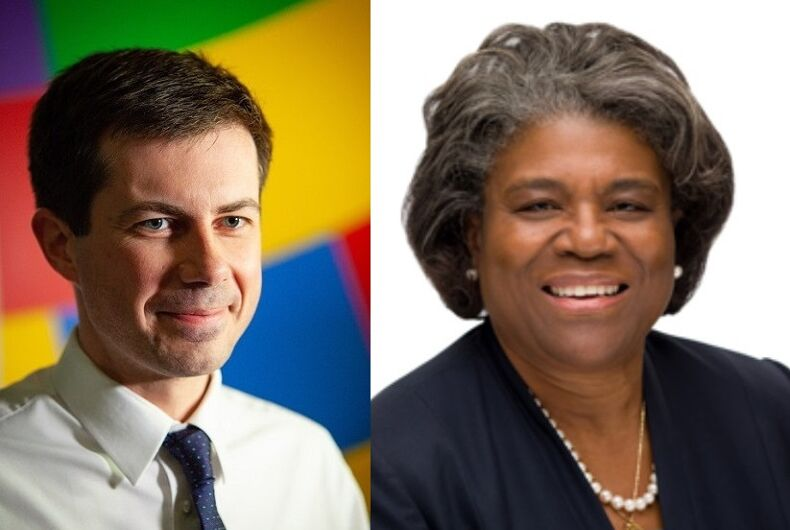 Pete Buttigieg/Linda Thomas-Greenfield