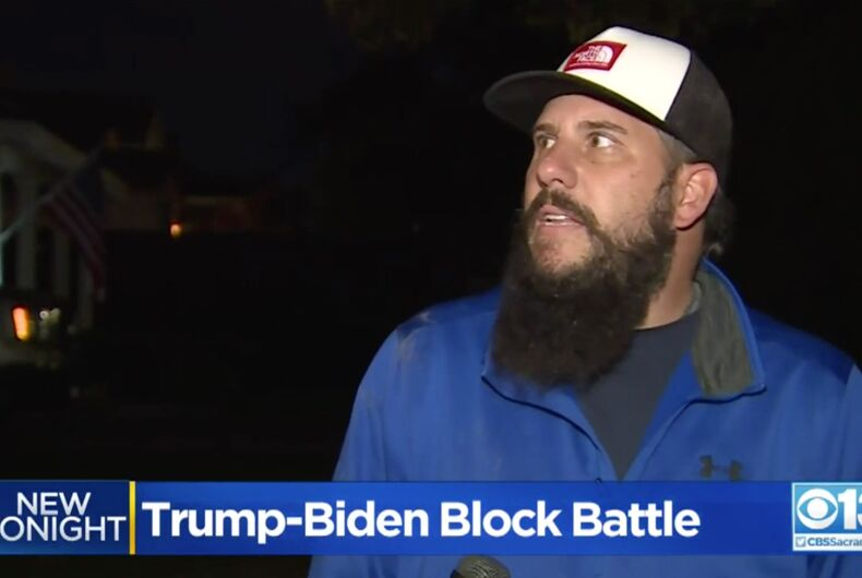Michael Mason, a Trump supporter, filed a restraining order against his neighbors who support Joe Biden