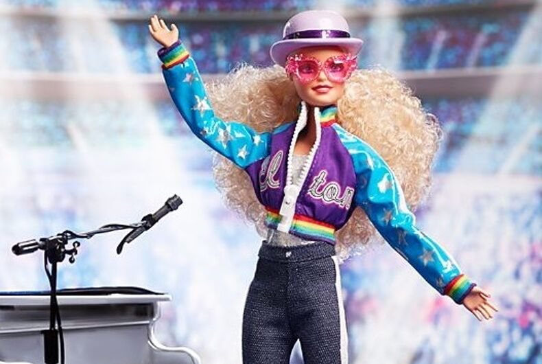 The Elton John Barbie doll is on sale now