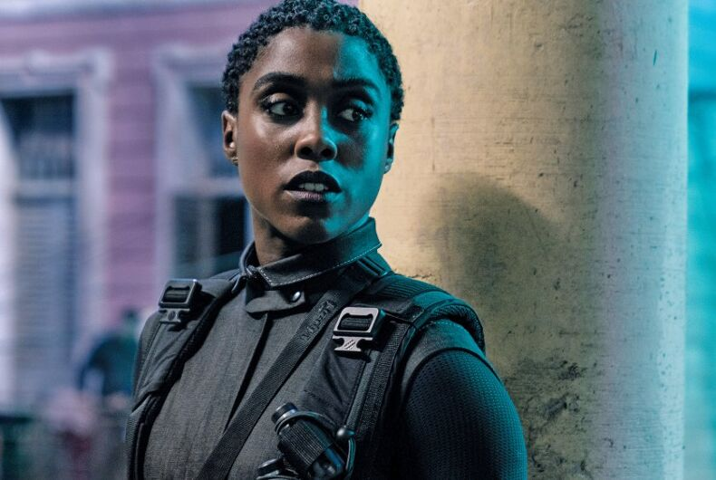 Out actor Lashana Lynch is 007 in the new Bond movie, No Time to Die.