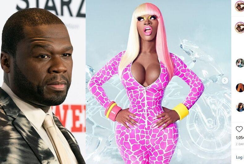 50 Cent/The Instagram post of Lil Nas X as Nicki Minaj