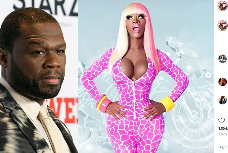 50 Cent/The Instagram post of Lil Nas X as Nicki Minaj