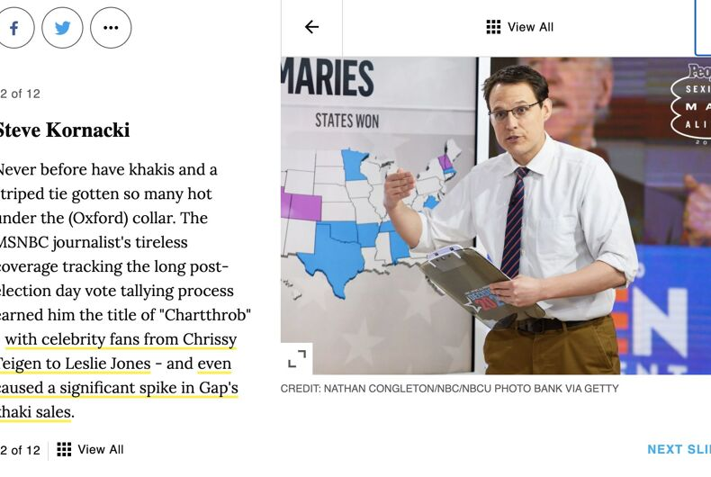 MSNBC analyst Steve Kornacki is the 12th sexiest man in America.